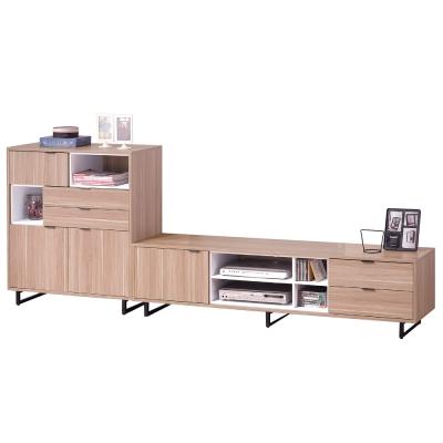 品家居 米爾思9尺橡木紋L櫃 展示櫃 長櫃 ~270x40x100cm~免組