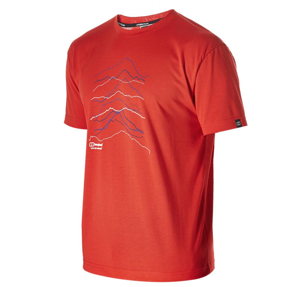 【Berghaus 貝豪斯】男款銀離子短袖T恤S04M05-紅