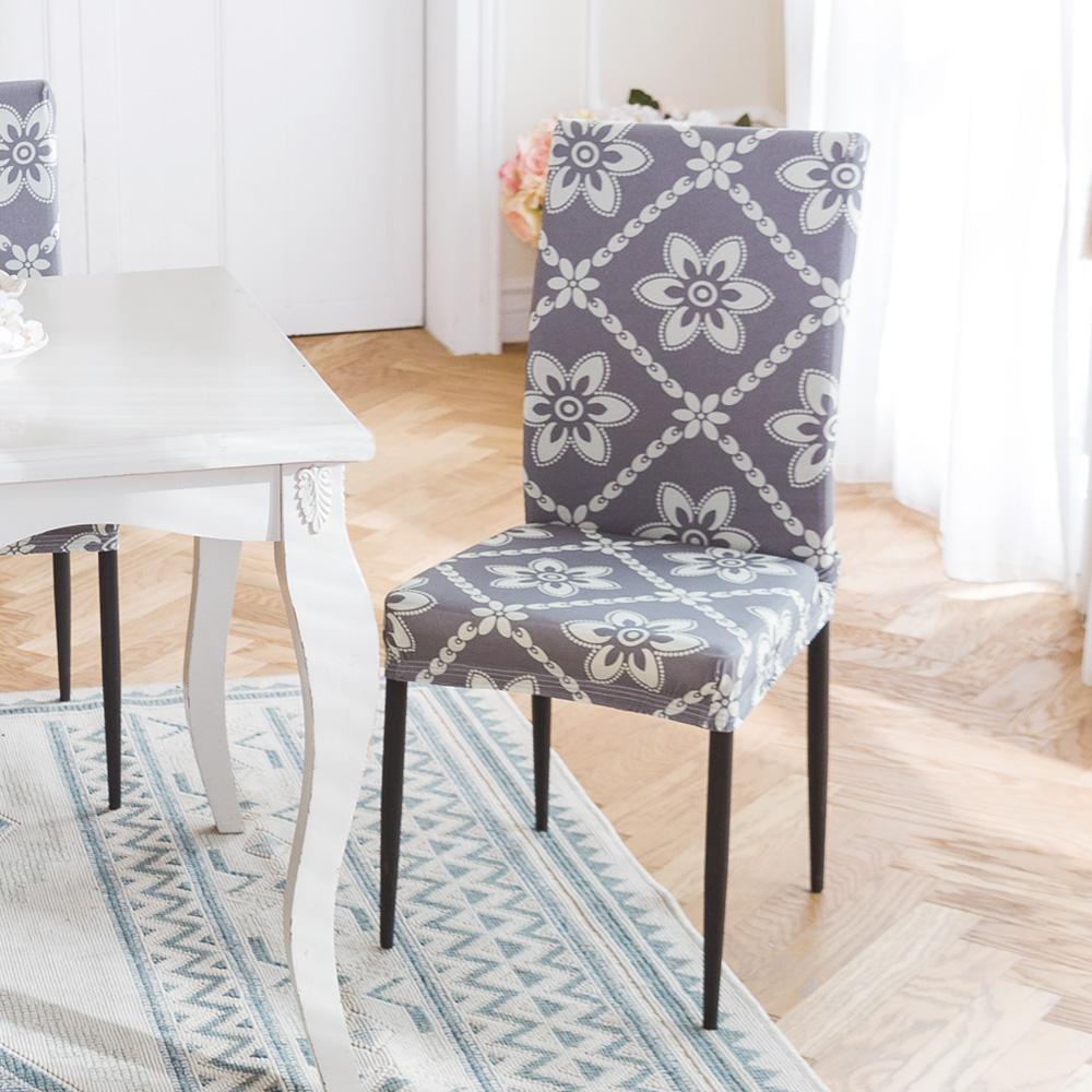 格藍傢飾 波斯迷情餐椅套-灰