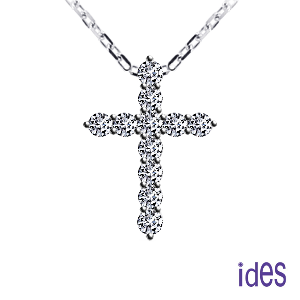 【ides 愛蒂思】精選設計經典十字架鑽石項鍊(大)