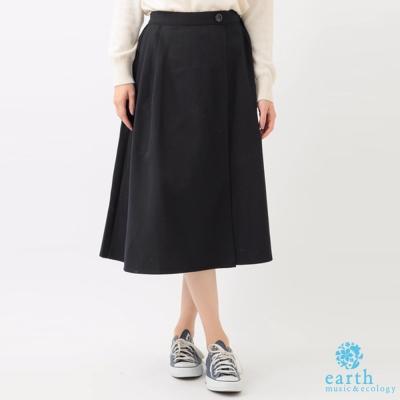 earth music 俐落剪裁單扣造型長裙