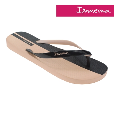 IPANEMA 雙色夏日人字拖鞋-粉色/黑色