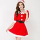 聖誕同慶 耶誕舞會角色扮演服(紅F) Ang