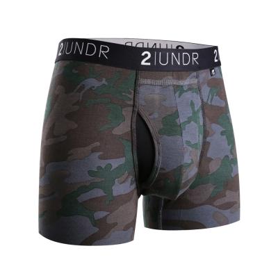 四角內褲 Swing Shift 莫代爾四角內褲(3吋)-深綠迷彩 2UNDR