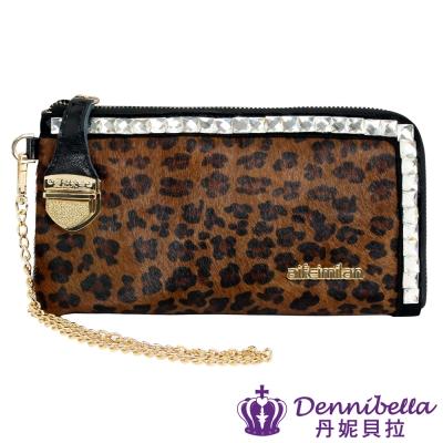 Dennibella 丹妮貝拉 -時尚復古手拿晚宴包-咖啡豹紋 @ Y!購物