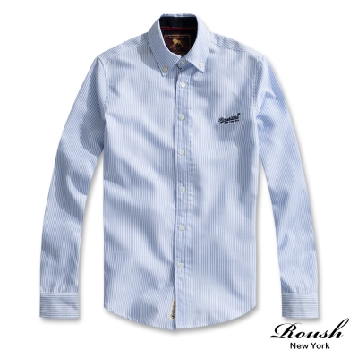 ROUSH 基本款牛津條紋襯衫 (3色)