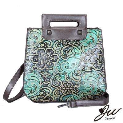 JW 韓國復古彩繪中國風可拆式背帶手提包 共四色