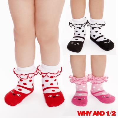 WHY AND 1/2 mini 普普熊短襪 防滑襪 多色可選