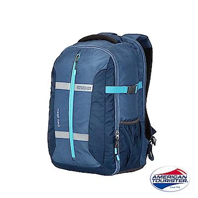 AT 美國旅行者 Magna大開口胸扣多功能筆電後背包15(藍)