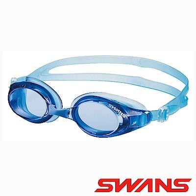 SWANS日本光學通用型泳鏡防霧抗UV SW-32水藍藍