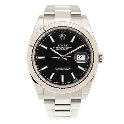 ROLEX 勞力士 Datejust 126334 日誌型板帶機械腕錶x黑面x41mm