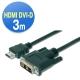 曜兆DIGITUS HDMI轉DVI(18+1)互轉線-3公尺(公-公) product thumbnail 1
