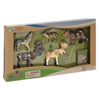 Wenno動物模型 動物系列 歐洲動物5入 WEU06001(3Y+)