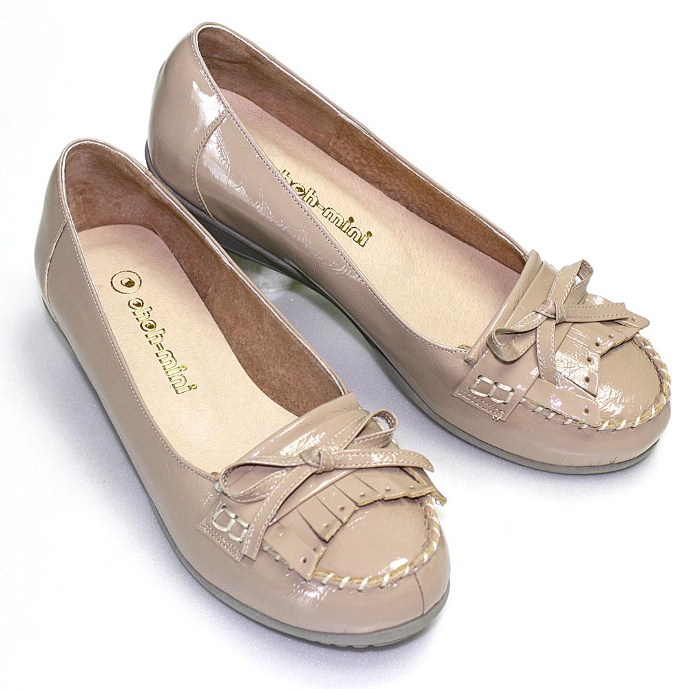 【ohoh-mini 孕婦裝 】典雅氣質真皮莫卡辛氣墊鞋 / 孕婦鞋