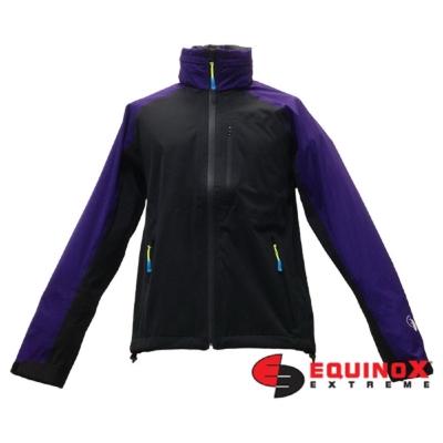 EQUINOX 輕量防水透溼戶外運動風衣-男款黑紫