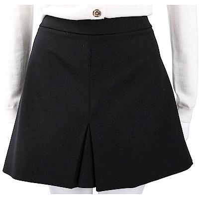 BOUTIQUE MOSCHINO 羊毛混紡極簡剪裁黑色褲裙