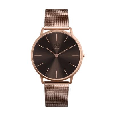 ZOOM 極簡超薄米蘭腕錶-深棕 /42mm