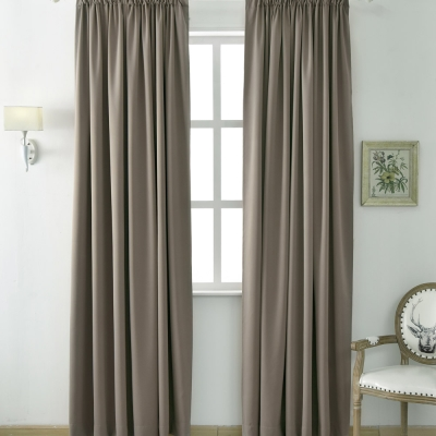 伊美居 - 多倫多全遮光落地窗簾 130x230cm(2件)
