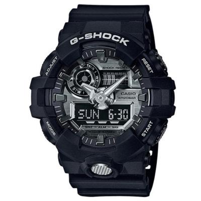 G-SHOCK創新突破金屬感強悍視覺休閒錶(GA-710-1A)金屬銀面53.4mm