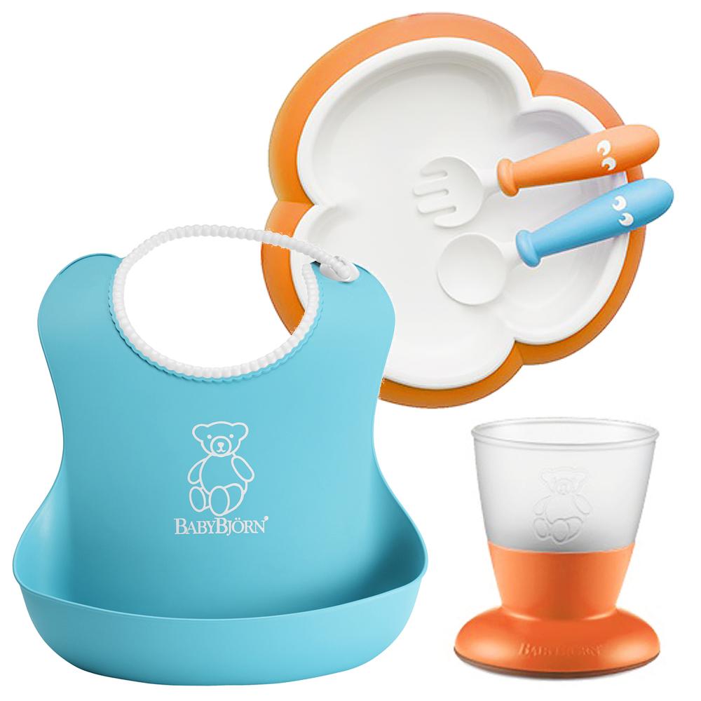 奇哥 BABYBJORN 餐具禮盒組-藍橘