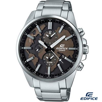 EDIFICE 多功能鬧鈴腕錶(ETD-300D-5A)-咖啡/46.3mm