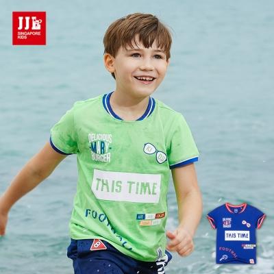 JJLKIDS 運動時光造型英字T恤(2色)