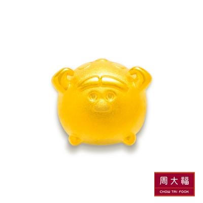 周大福 TSUM TSUM系列 毛怪黃金路路通串飾/串珠