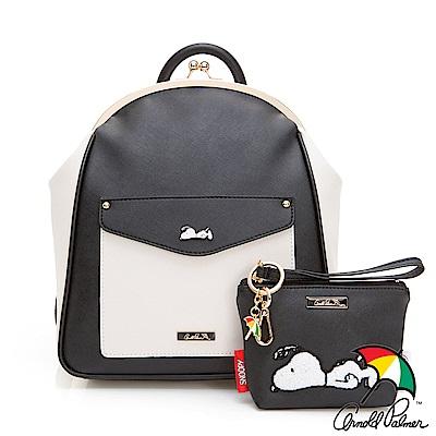 Arnold Palmer x Snoopy- 口金後背包 黑白夢境系列-黑白