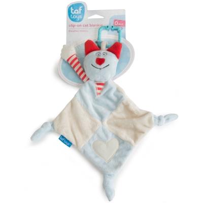 taf toys五感開發系列-小貓安撫巾