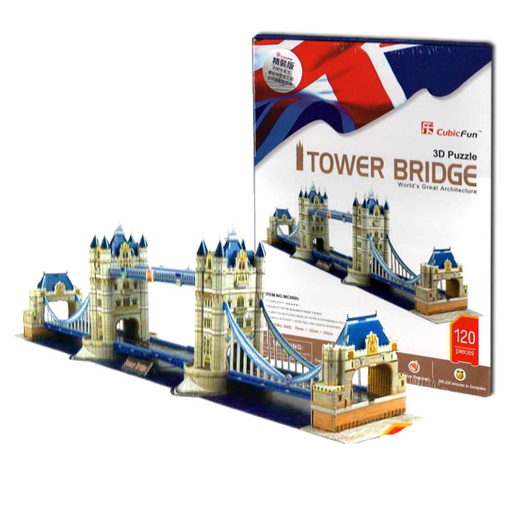 Cubic Fun 智慧3D立體拼圖『英國-倫敦雙子塔橋』(精裝版)