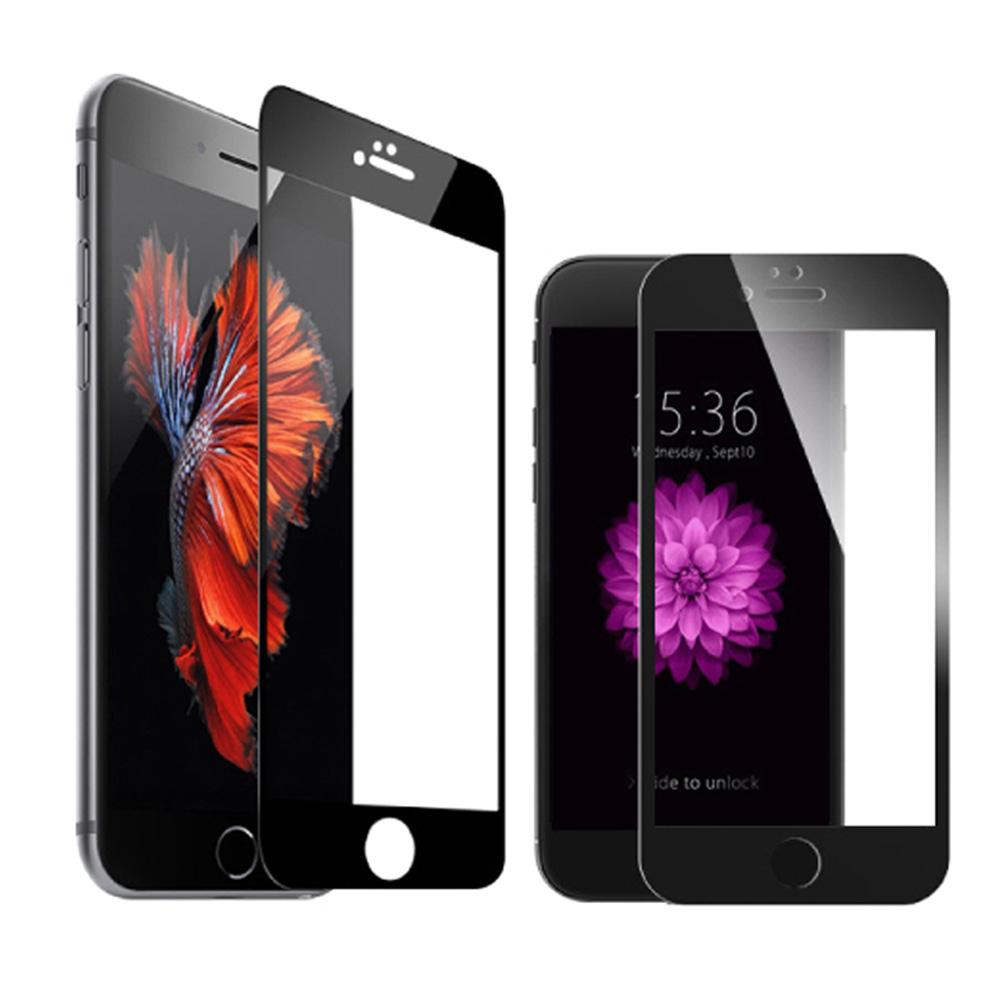 蘋果適用iPhone 7 Plus碳纖維全屏鋼化玻璃保護膜黑