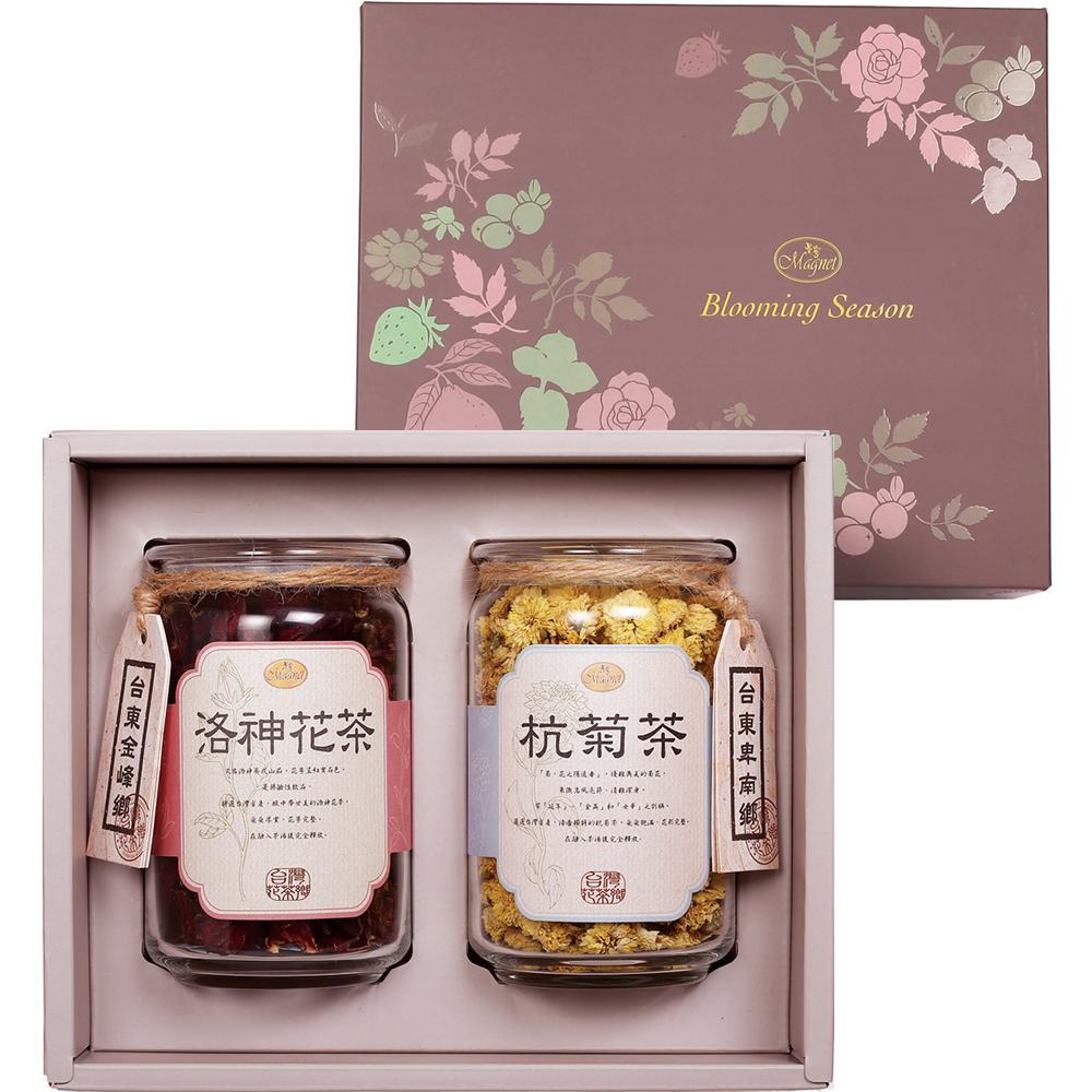 曼寧 台灣花茶禮盒(洛神45g+杭菊45g)