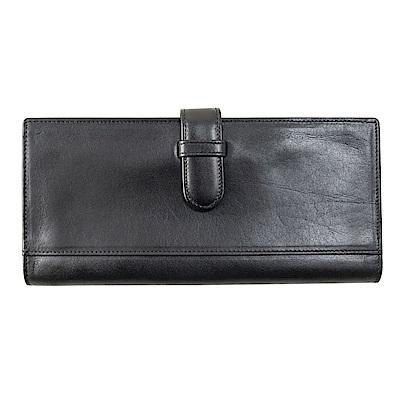 Sika義大利時尚真皮支票夾A8293-03質感黑