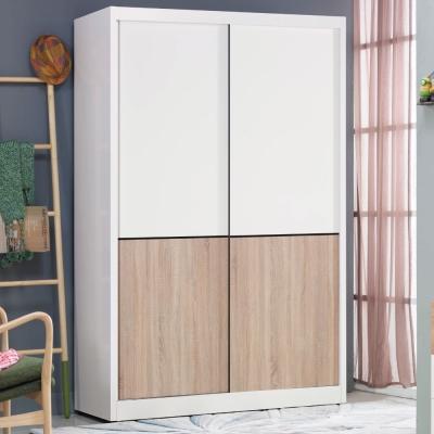 品家居 特里莎4尺雙色推門衣櫃