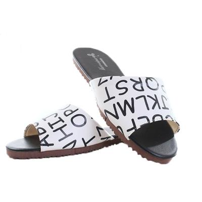 黑白字母防滑靜音居家拖鞋 (2雙一組) sd0113 魔法Baby