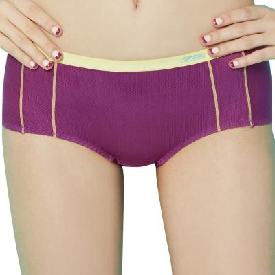 思薇爾 K.K Fit系列M-XL中低腰素面平口褲(亮桃紫)