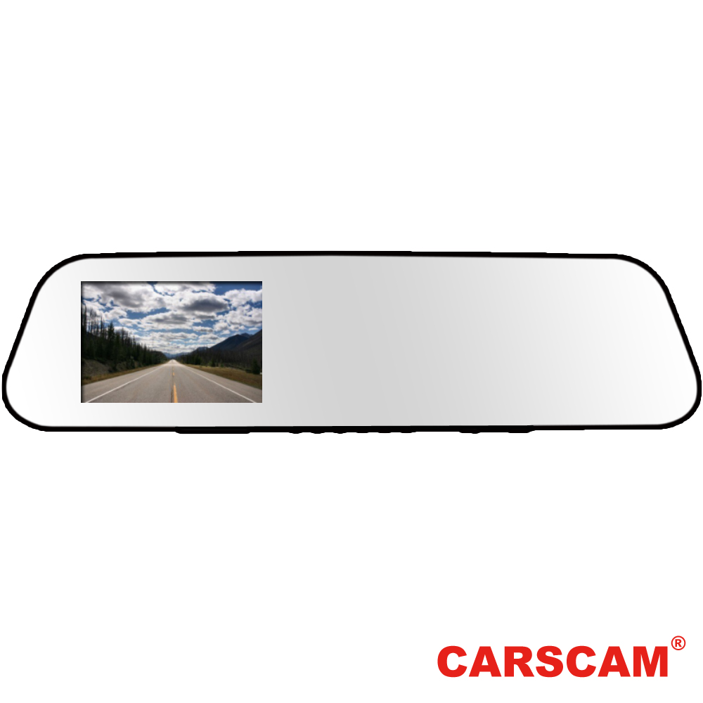 CARSCAM行車王 RS033 WDR超薄後視鏡行車紀錄器-急速配