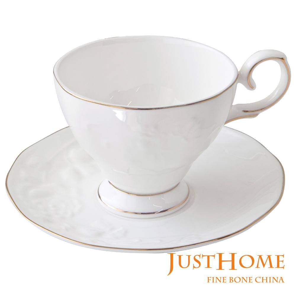 Just Home金雅浮雕骨瓷6入咖啡杯盤組不附收納架