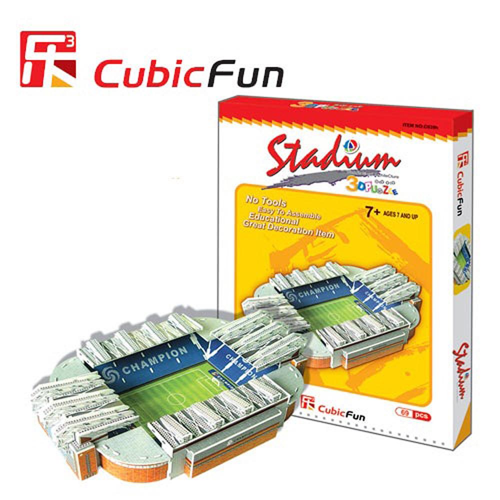 Cubic Fun 智慧3D立體拼圖『英國曼契斯特球場』