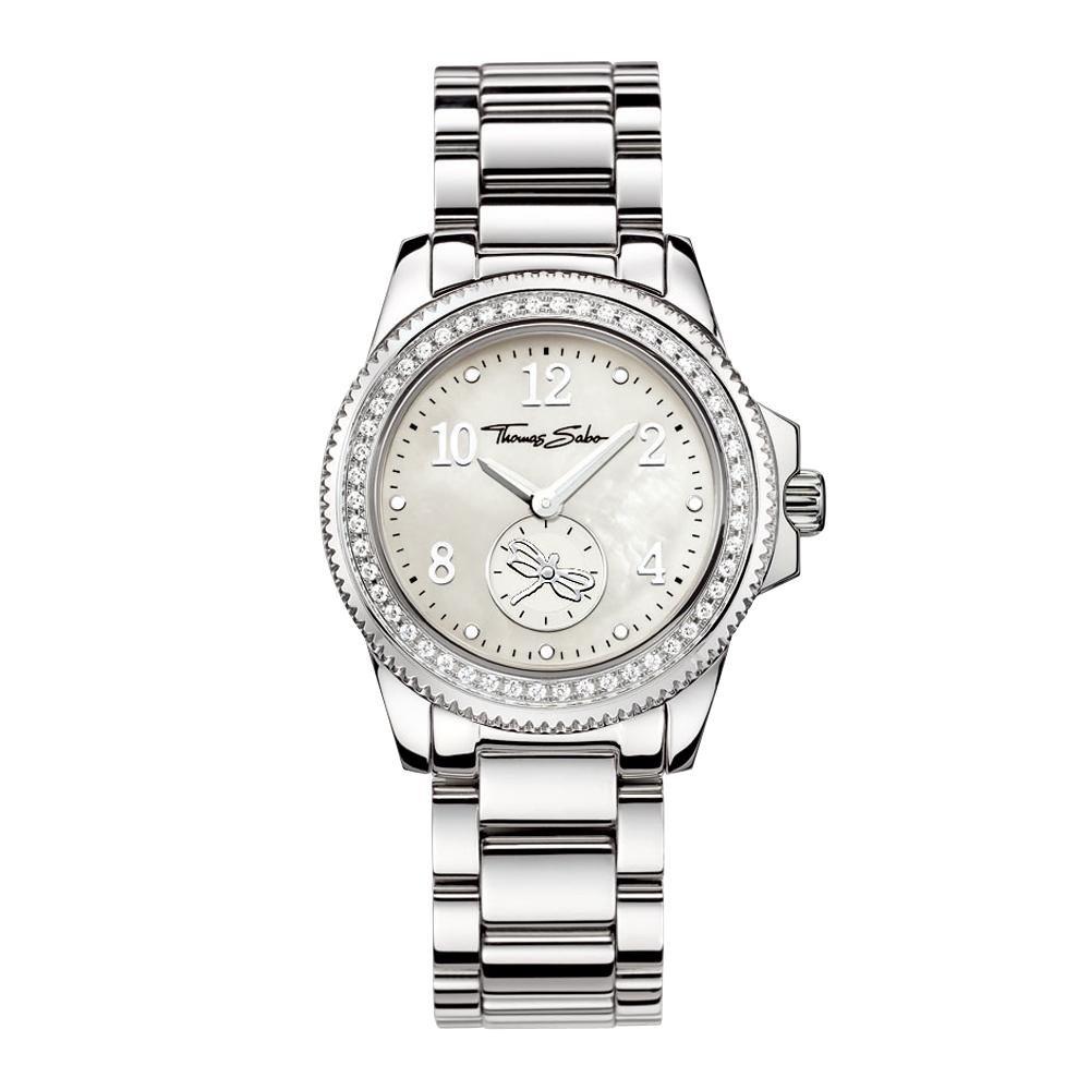 Thomas Sabo Damenuhr 珍珠貝晶鑽腕錶-珍珠貝/33mm