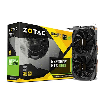 ZOTAC 索泰 GeForceGTX 1060 3GB AMP Core Edition