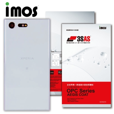 iMOS Sony Xperia X Compact 3SAS 疏油疏水 背面保...