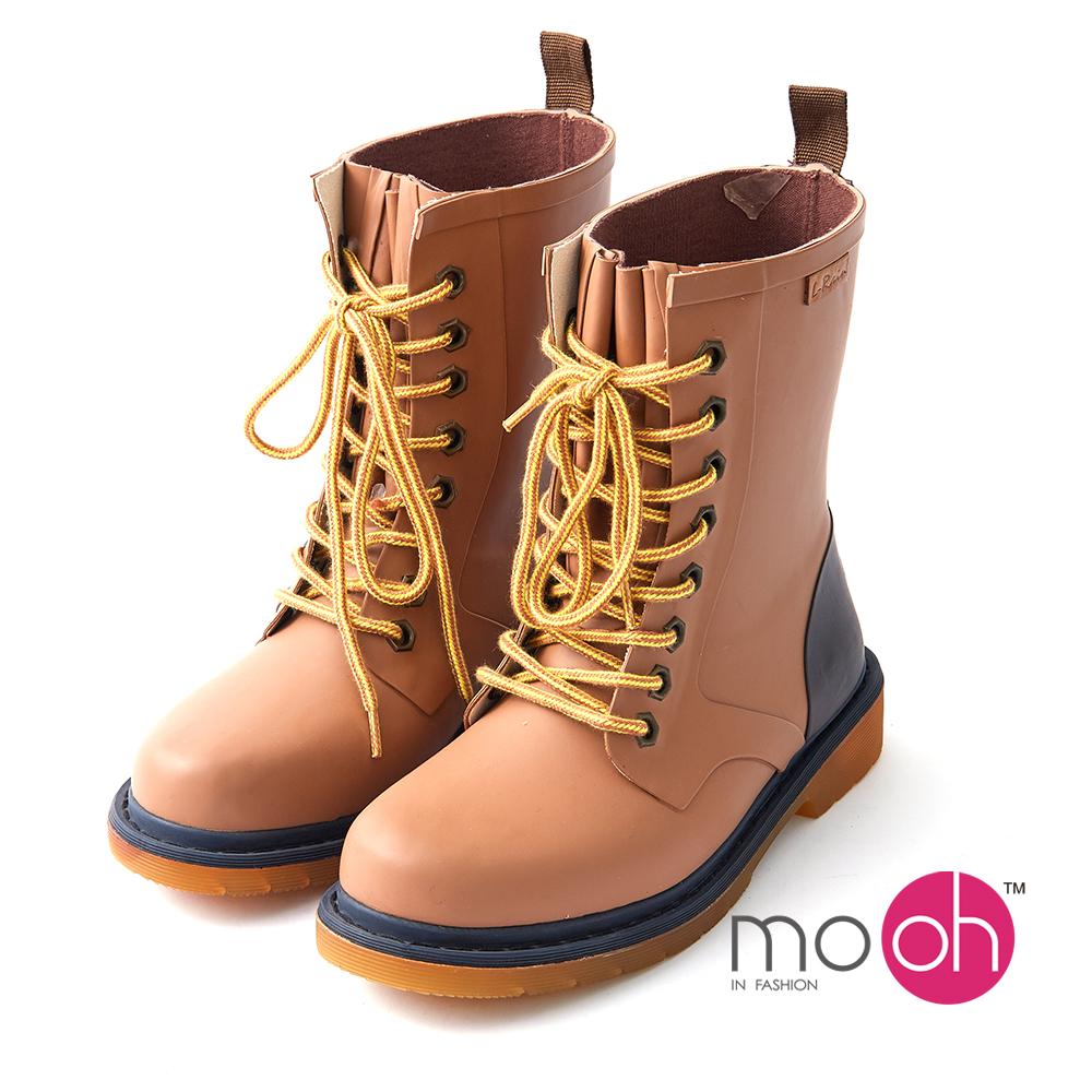 mo.oh愛雨天-男女款馬丁防水登山雨鞋-