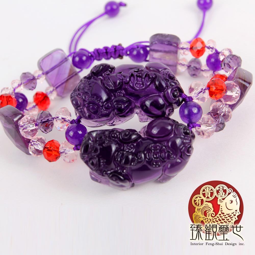 助事業紫琉璃貔貅手鏈/手鍊
