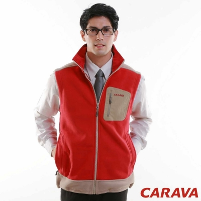 CARAVA《男款刷毛背心》(紅)