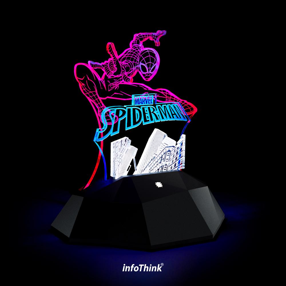 InfoThink蜘蛛人3D立光燈(觸控式開關)