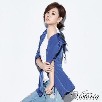 Victoria 長版抗UV外套-女-紫色