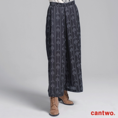 cantwo民俗風寬褲(共二色)