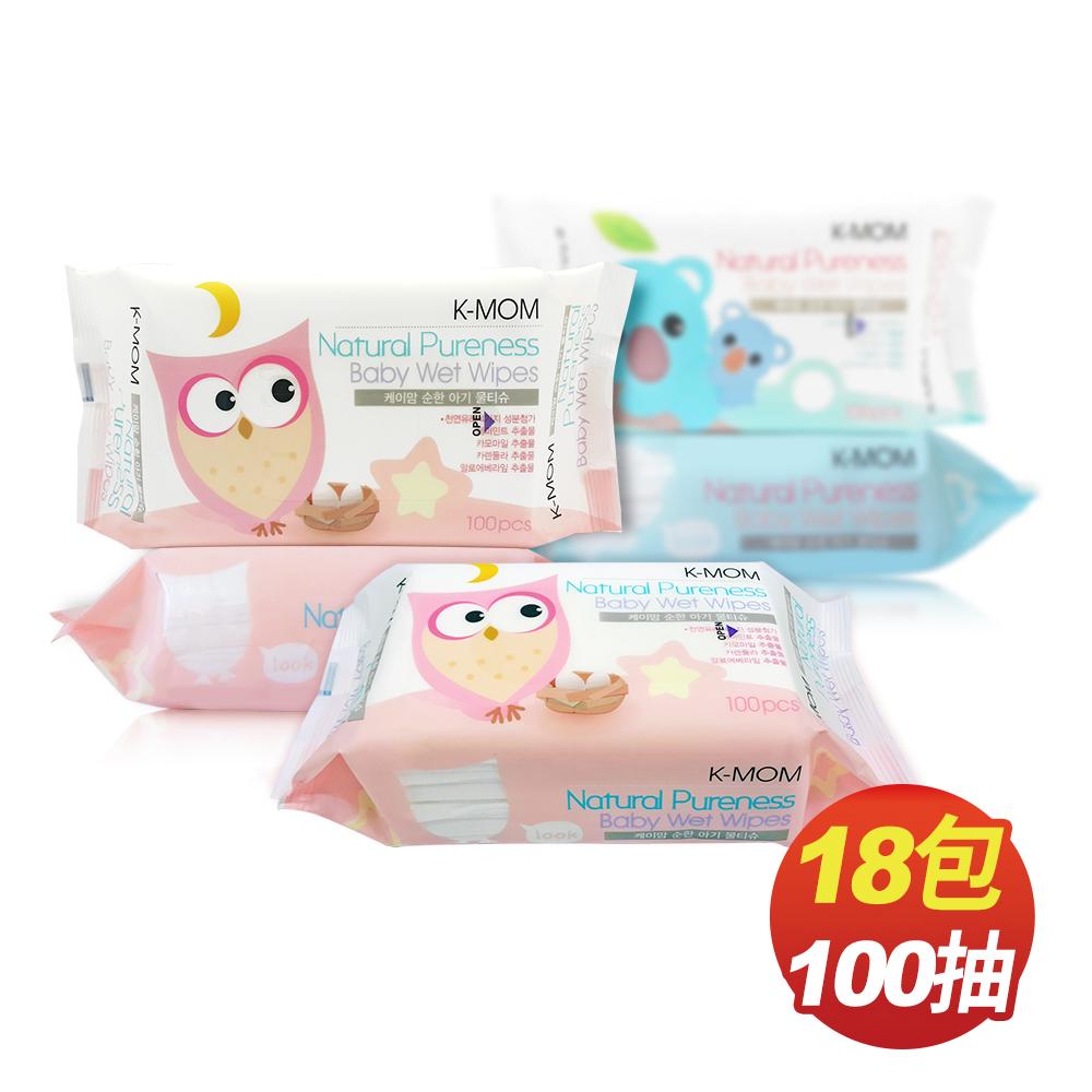 韓國MOTHER-K純淨自然幼兒濕紙巾(100抽x18包/箱)-基本款(包裝隨機出貨)