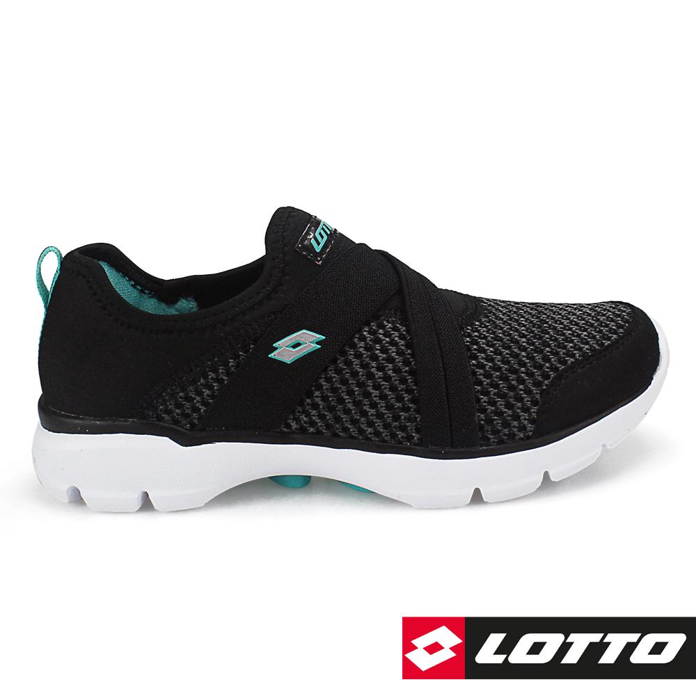 LOTTO 義大利 女 EASYWEAR 樂活輕跑鞋 (黑)